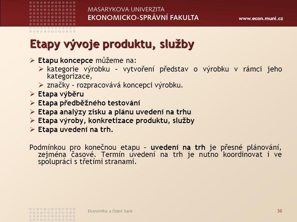 Etapy vývoje produktu, služby