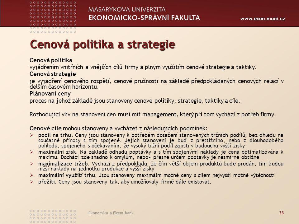 Cenová politika a strategie