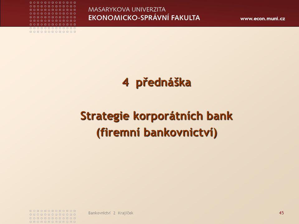 Strategie korporátních bank