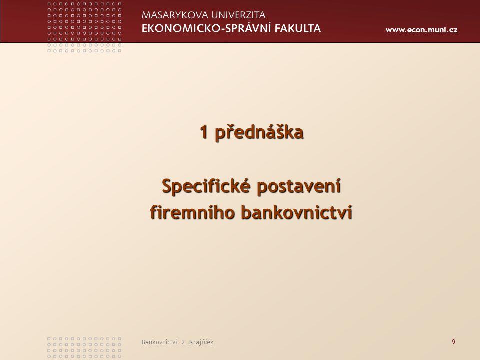 firemního bankovnictví