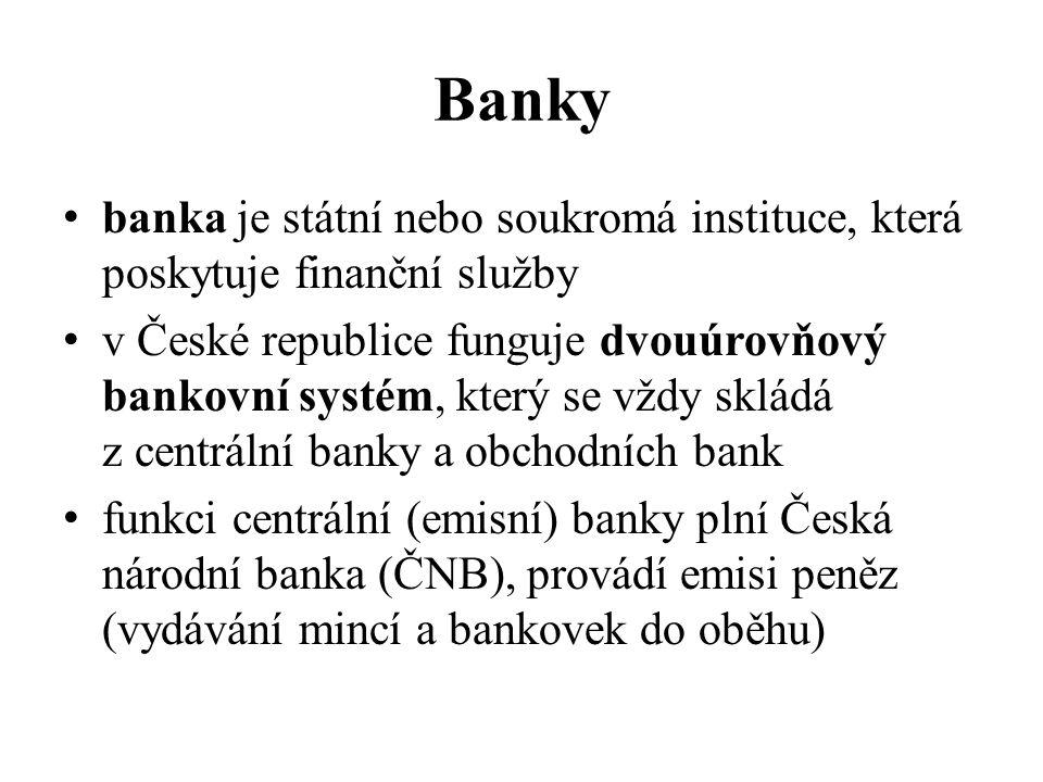 Banky banka je státní nebo soukromá instituce, která poskytuje finanční služby.