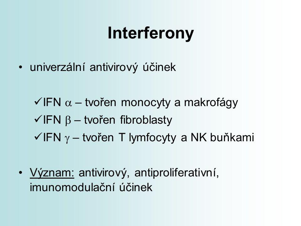 Interferony univerzální antivirový účinek