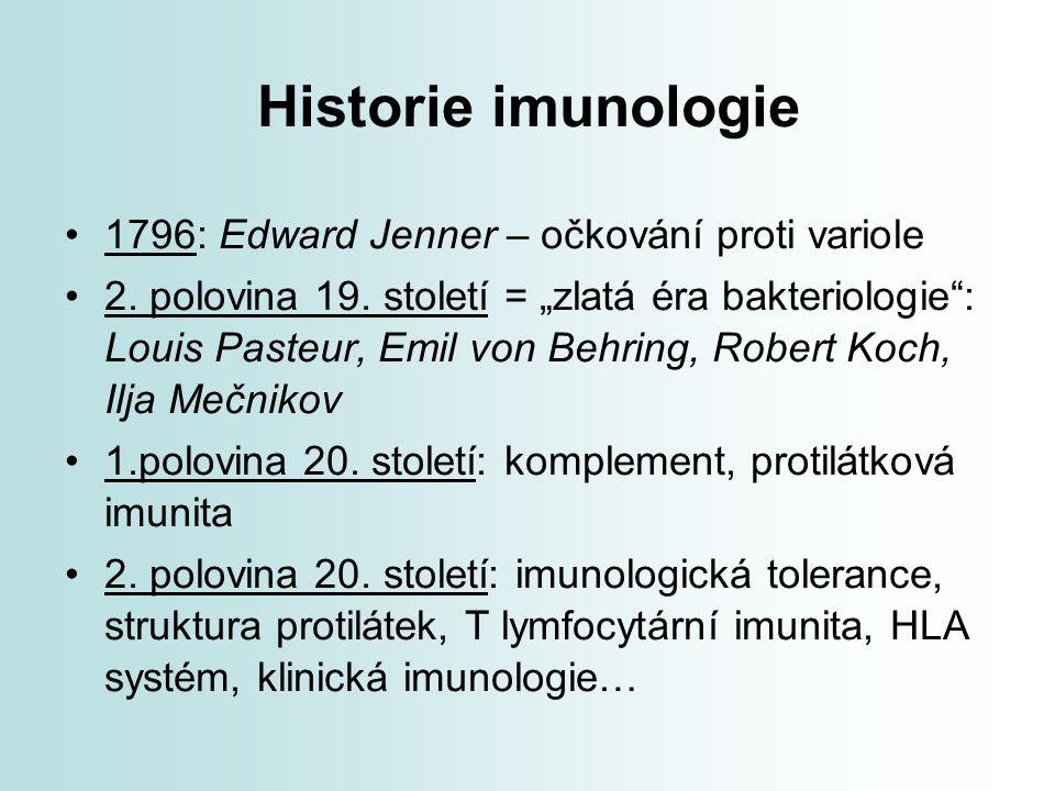 Historie imunologie 1796: Edward Jenner – očkování proti variole