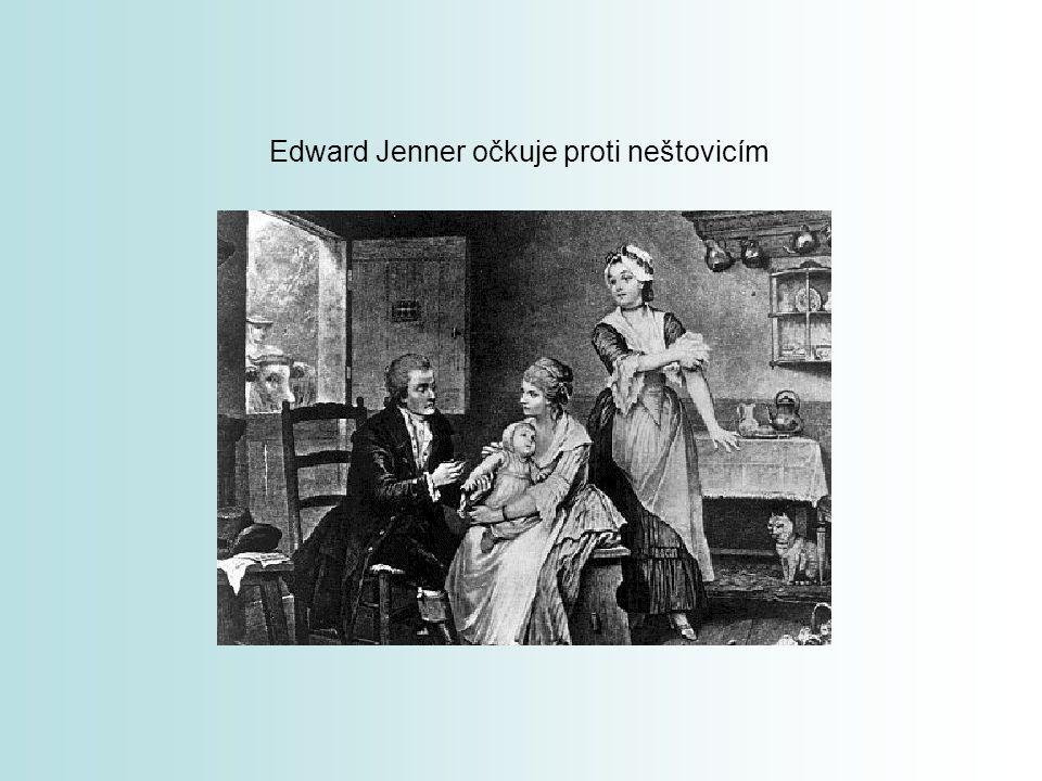 Edward Jenner očkuje proti neštovicím