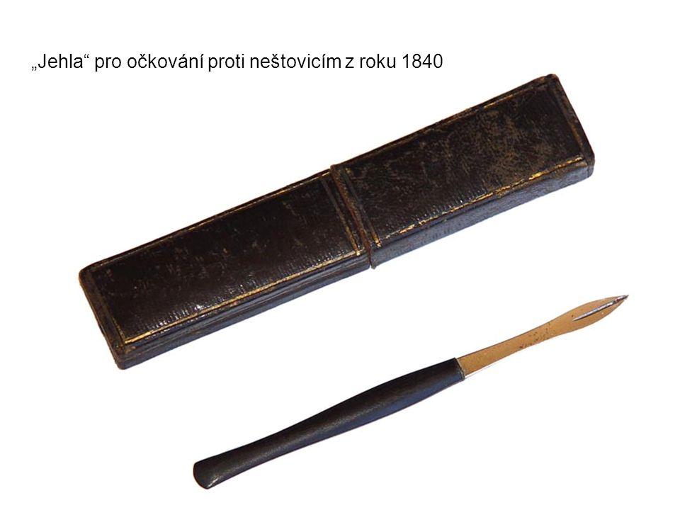 """""""Jehla pro očkování proti neštovicím z roku 1840"""