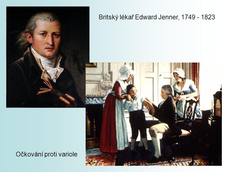 Britský lékař Edward Jenner, 1749 - 1823