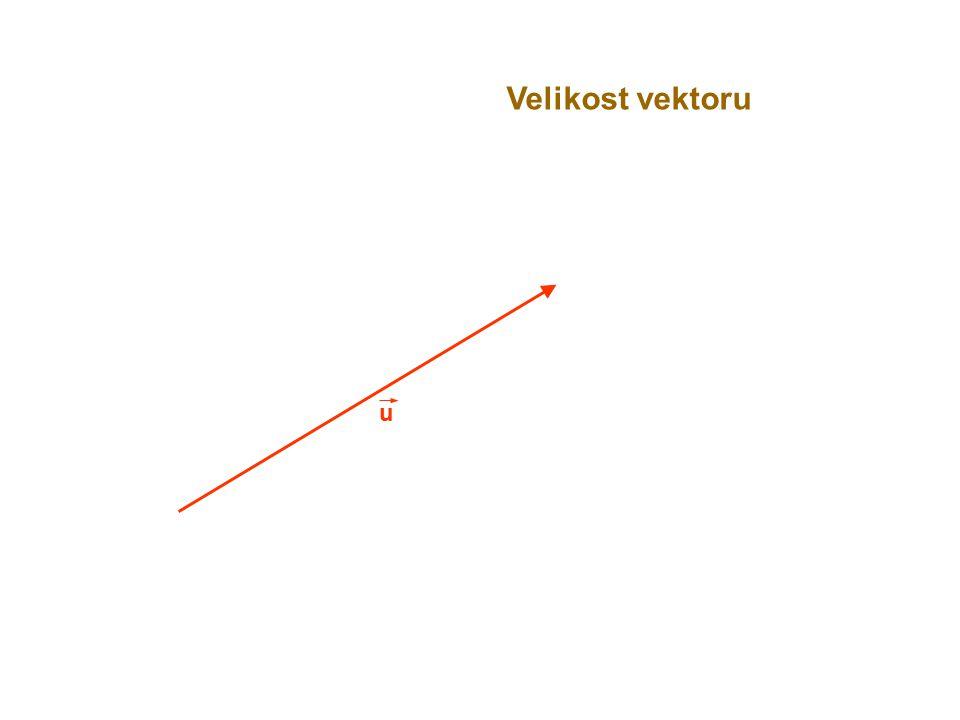 Velikost vektoru u