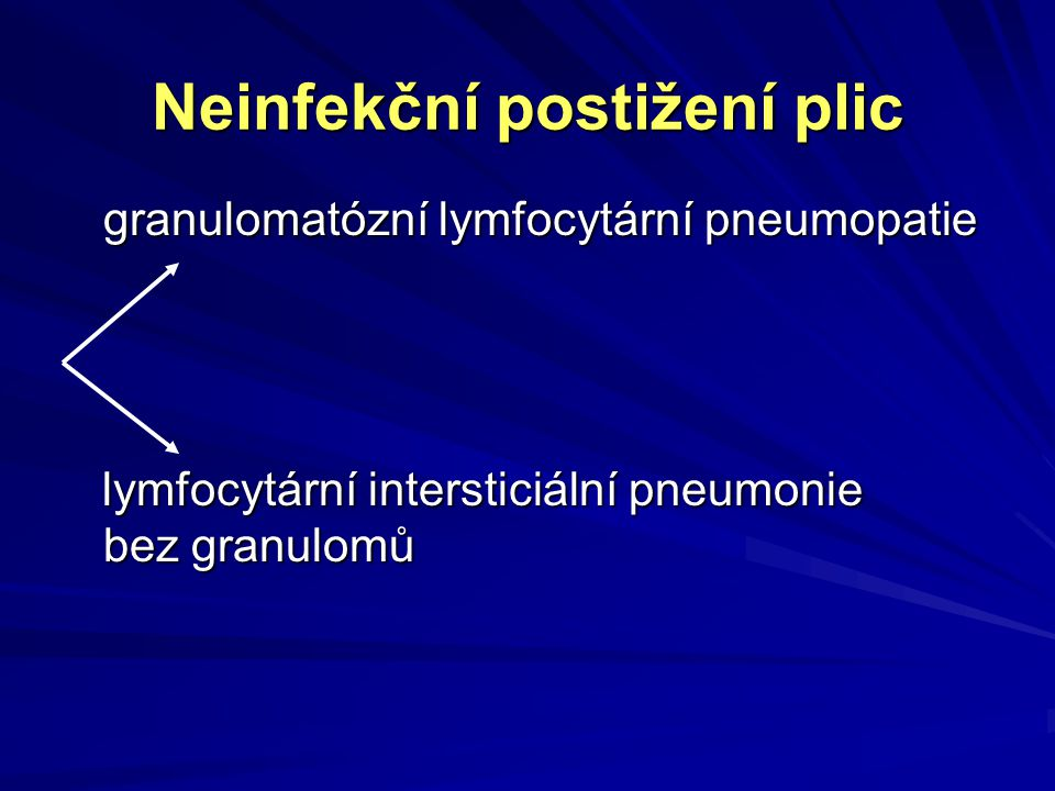 Neinfekční postižení plic