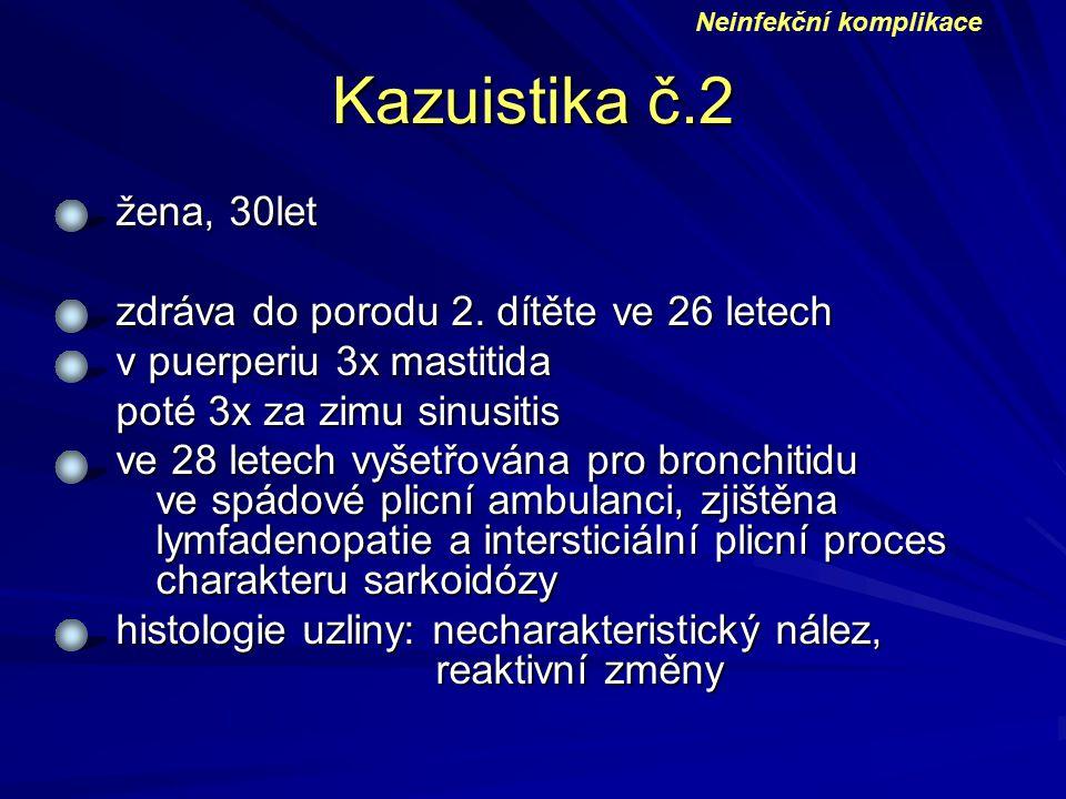 Kazuistika č.2 žena, 30let zdráva do porodu 2. dítěte ve 26 letech