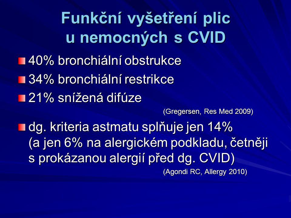 Funkční vyšetření plic u nemocných s CVID
