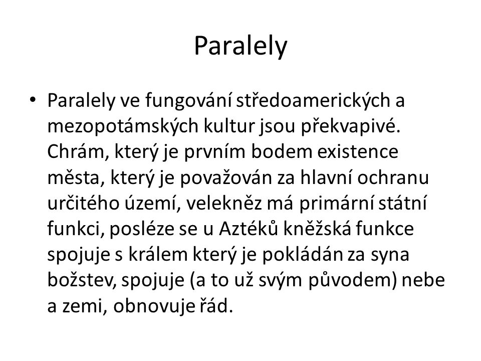 Paralely