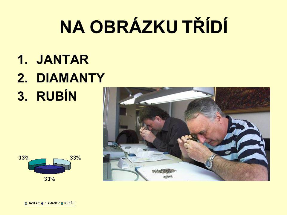 NA OBRÁZKU TŘÍDÍ JANTAR DIAMANTY RUBÍN