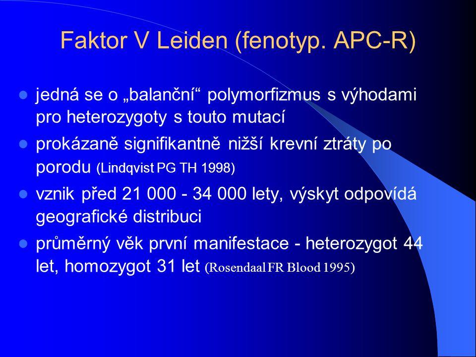 Faktor V Leiden (fenotyp. APC-R)