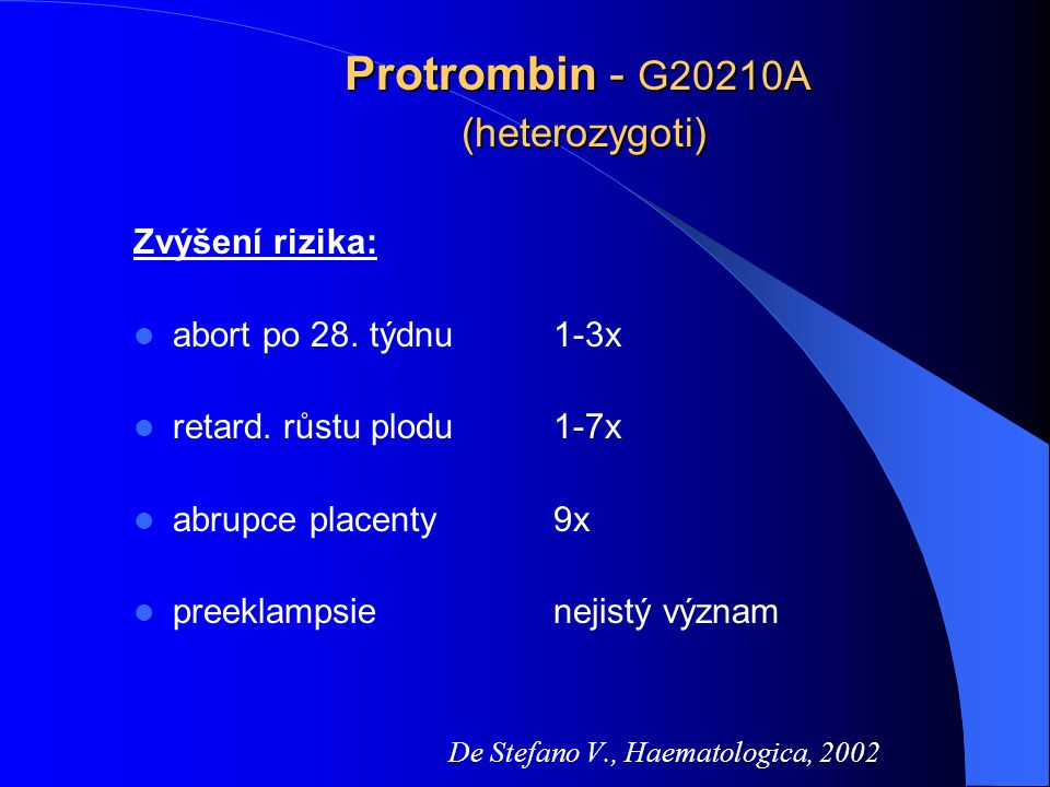 Protrombin - G20210A (heterozygoti)