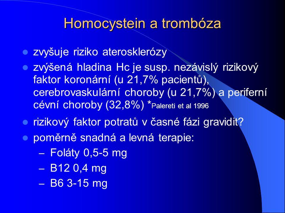 Homocystein a trombóza