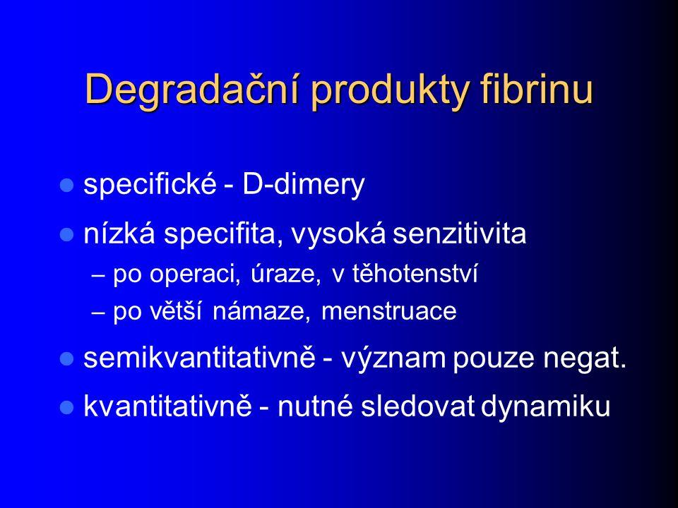 Degradační produkty fibrinu