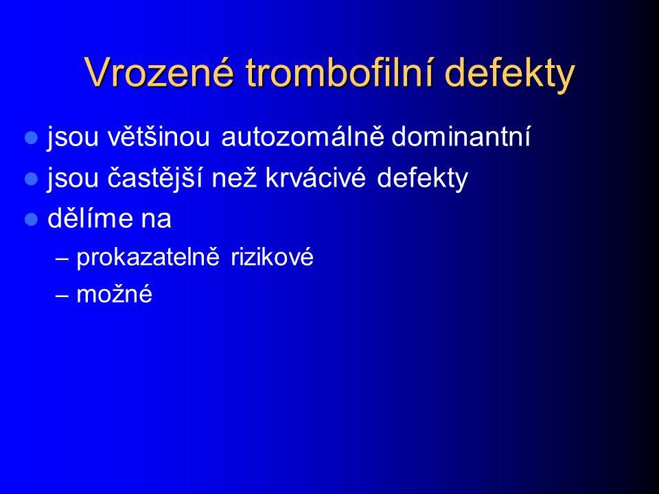Vrozené trombofilní defekty