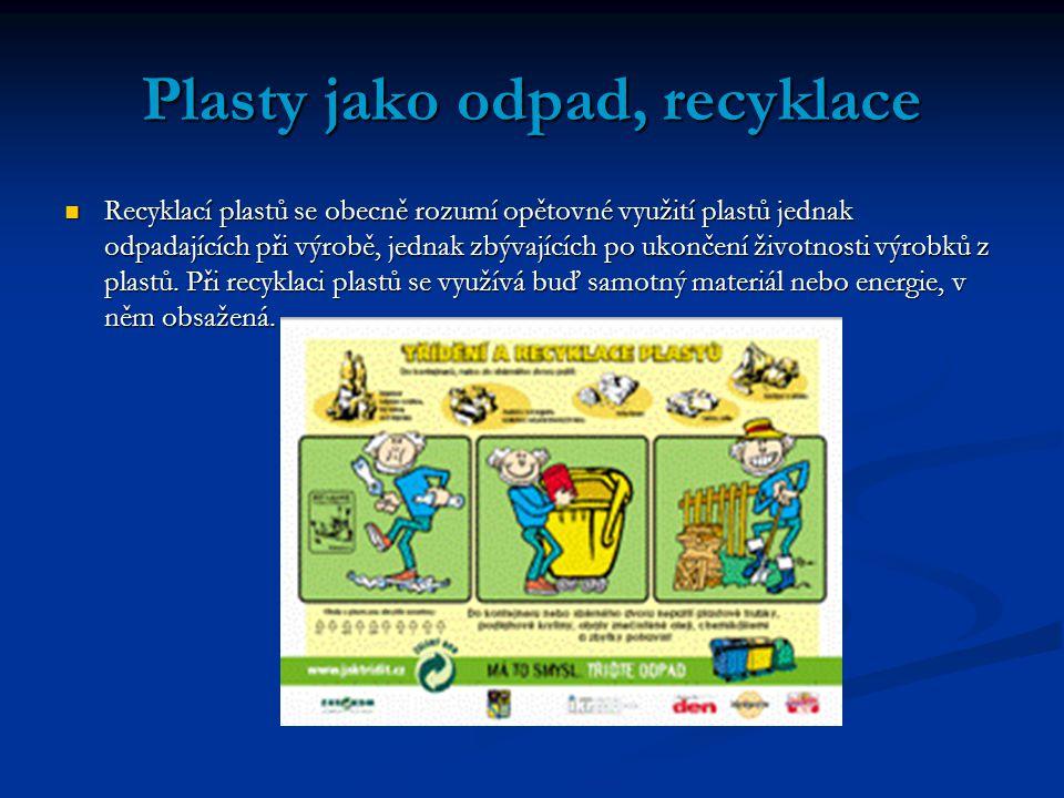 Plasty jako odpad, recyklace