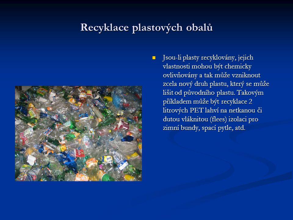 Recyklace plastových obalů