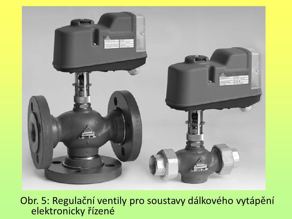 Obr. 5: Regulační ventily pro soustavy dálkového vytápění elektronicky řízené