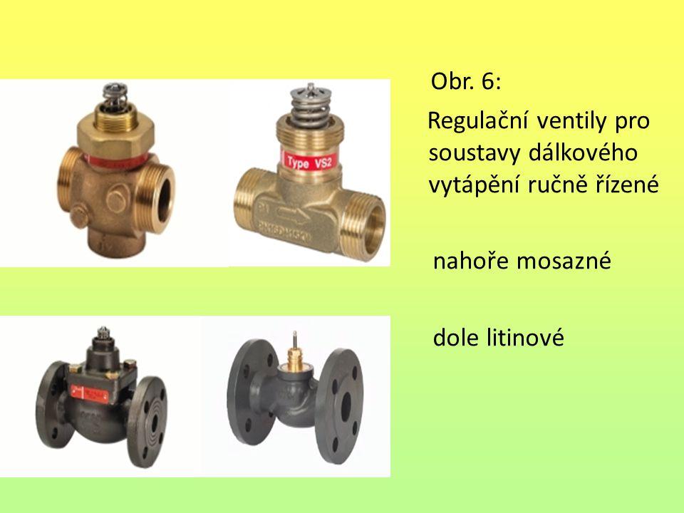 Obr. 6: Regulační ventily pro soustavy dálkového vytápění ručně řízené