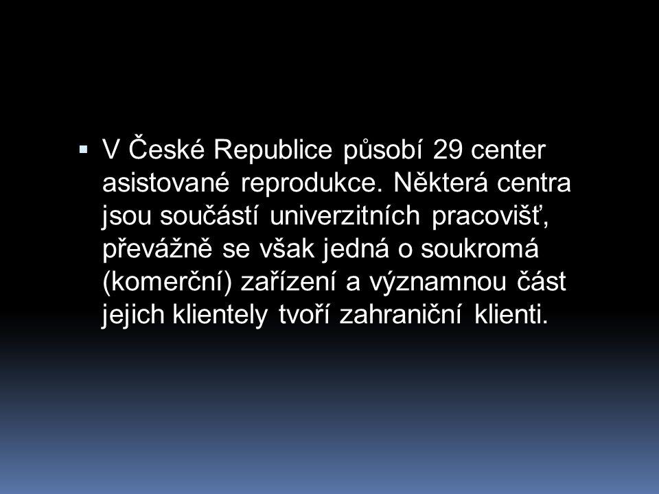V České Republice působí 29 center asistované reprodukce