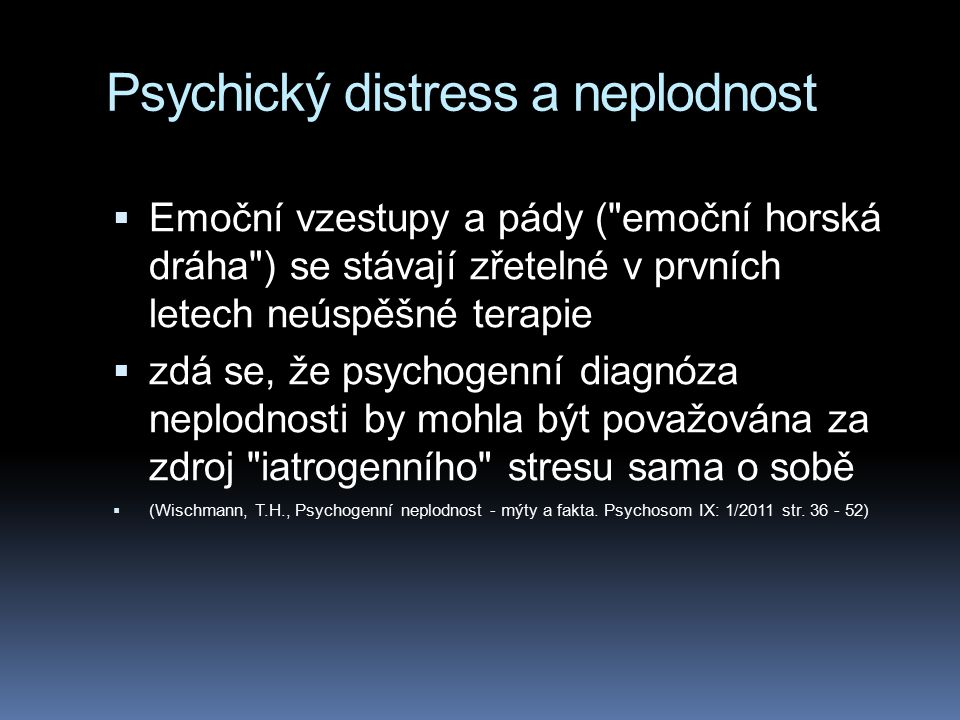 Psychický distress a neplodnost