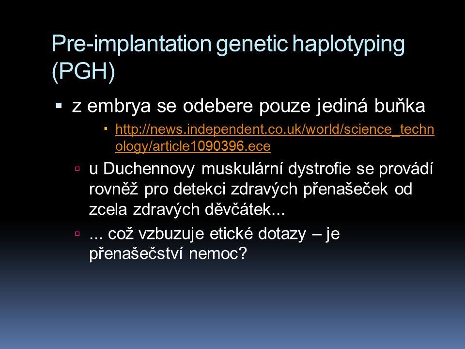Pre-implantation genetic haplotyping (PGH)