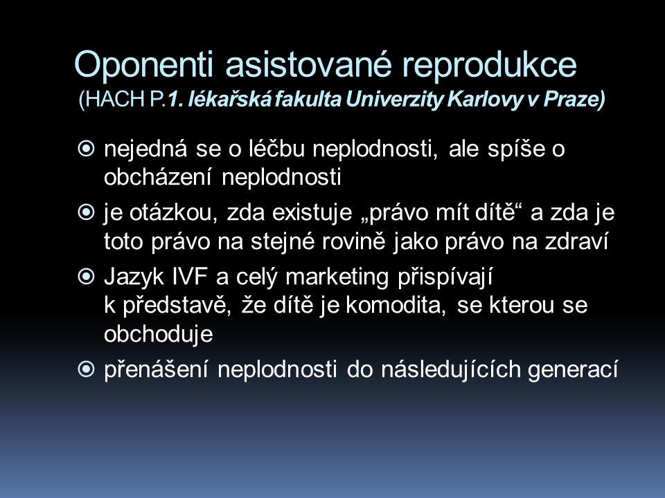 Oponenti asistované reprodukce (HACH P. 1