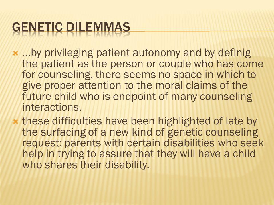 Genetic Dilemmas