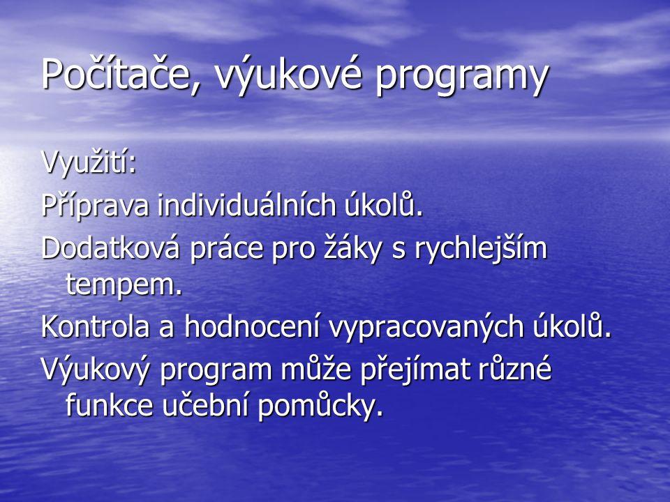 Počítače, výukové programy