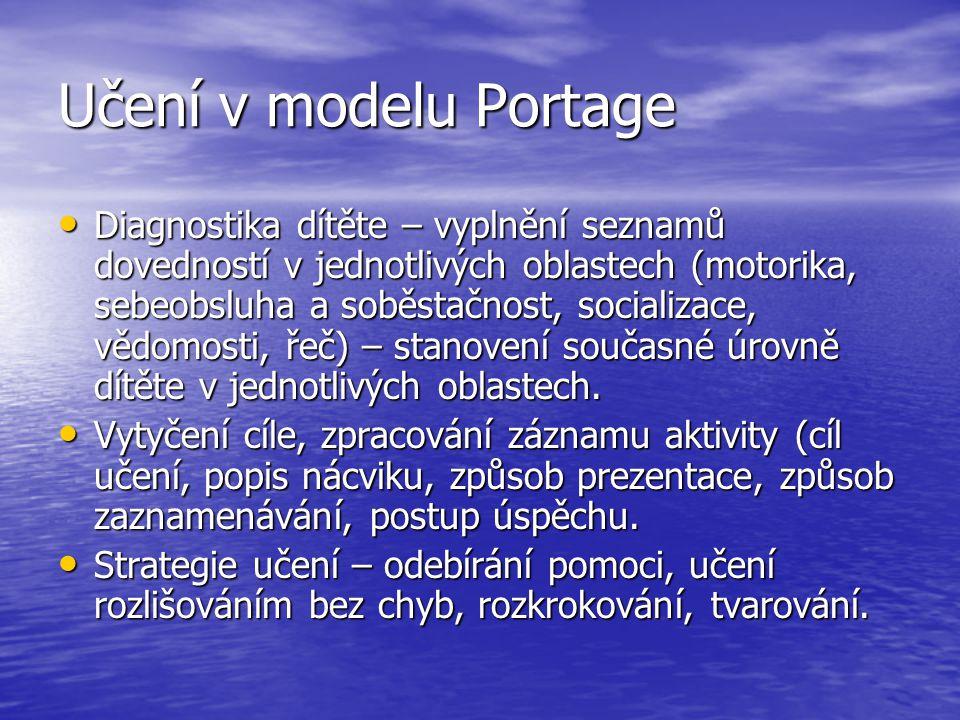 Učení v modelu Portage