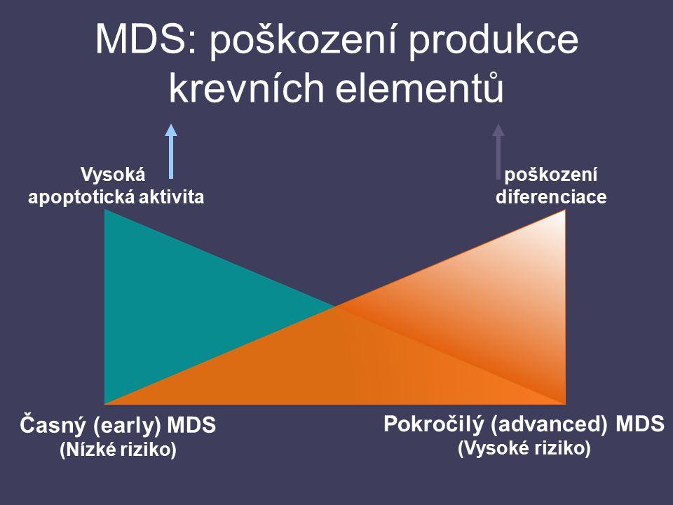 MDS: poškození produkce krevních elementů