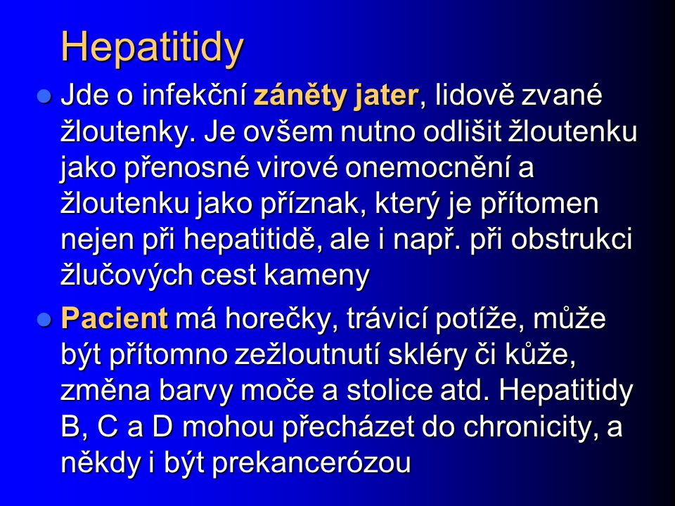 Hepatitidy