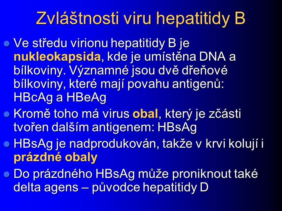 Zvláštnosti viru hepatitidy B