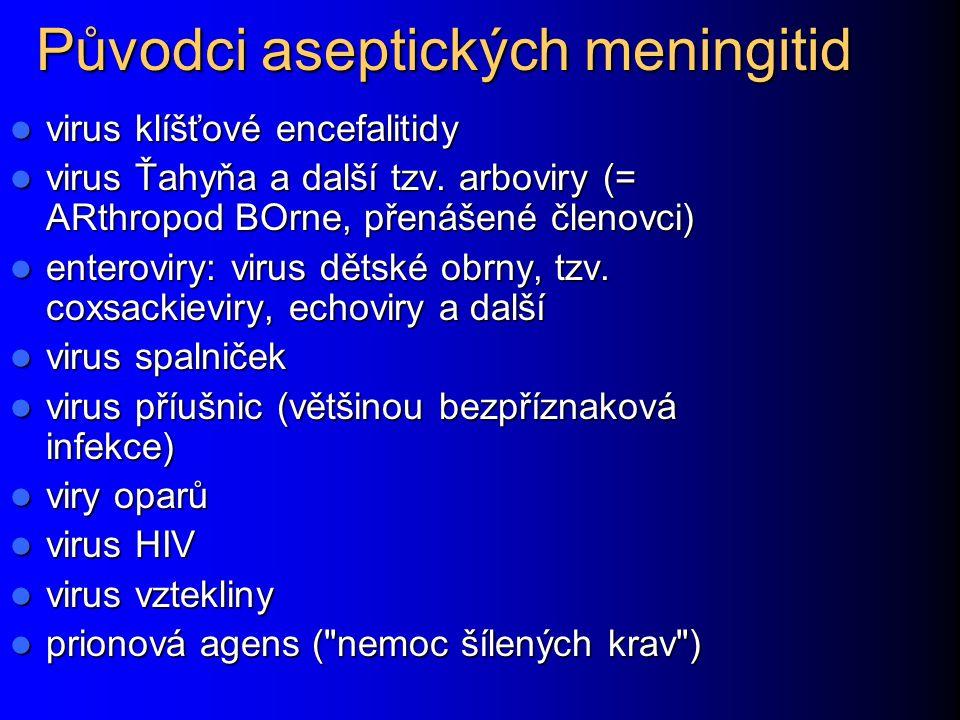 Původci aseptických meningitid
