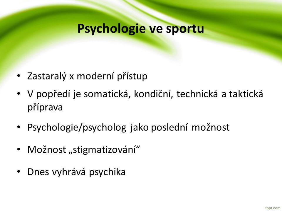 Psychologie ve sportu Zastaralý x moderní přístup