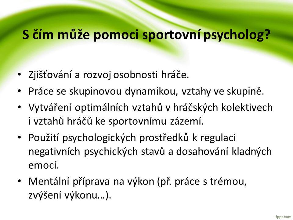 S čím může pomoci sportovní psycholog