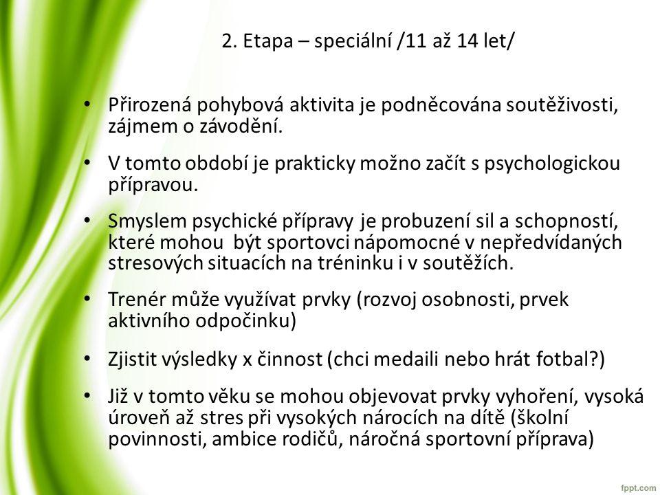2. Etapa – speciální /11 až 14 let/