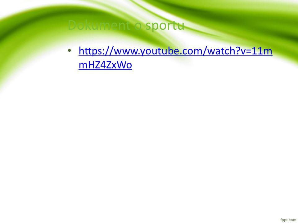 Dokument o sportu https://www.youtube.com/watch v=11mmHZ4ZxWo