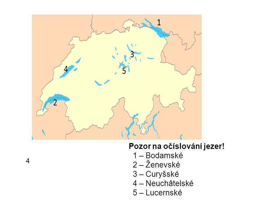 Pozor na očíslování jezer
