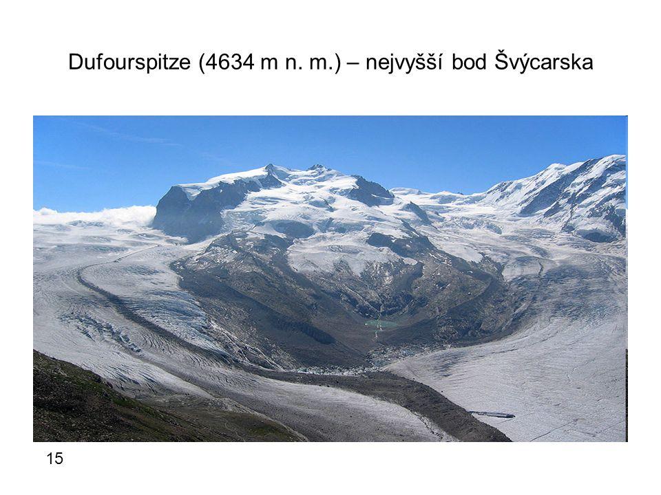 Dufourspitze (4634 m n. m.) – nejvyšší bod Švýcarska