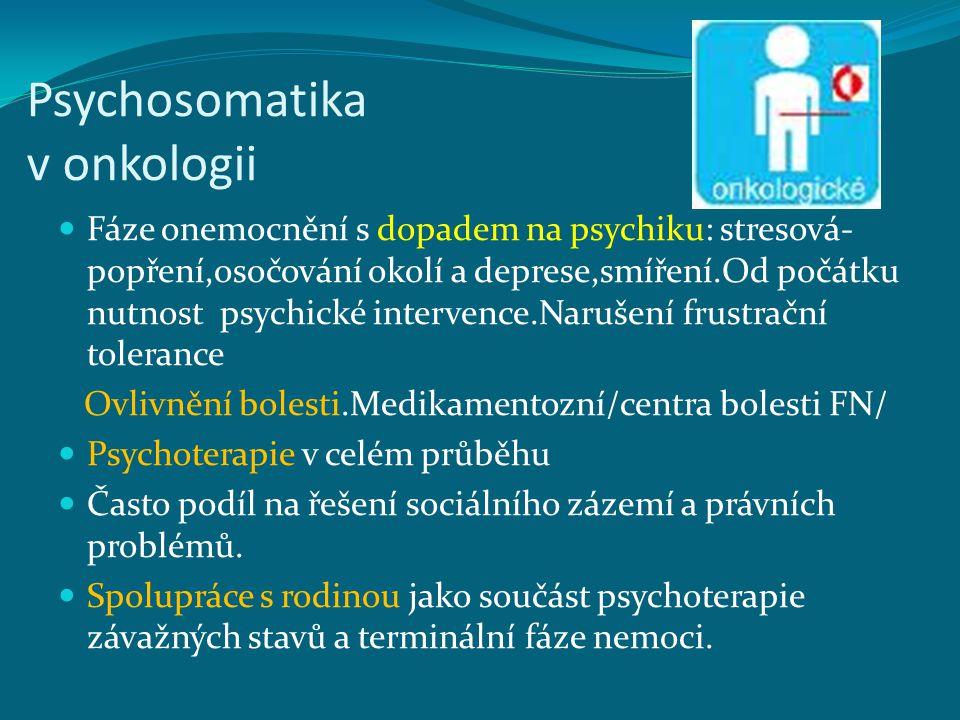 Psychosomatika v onkologii