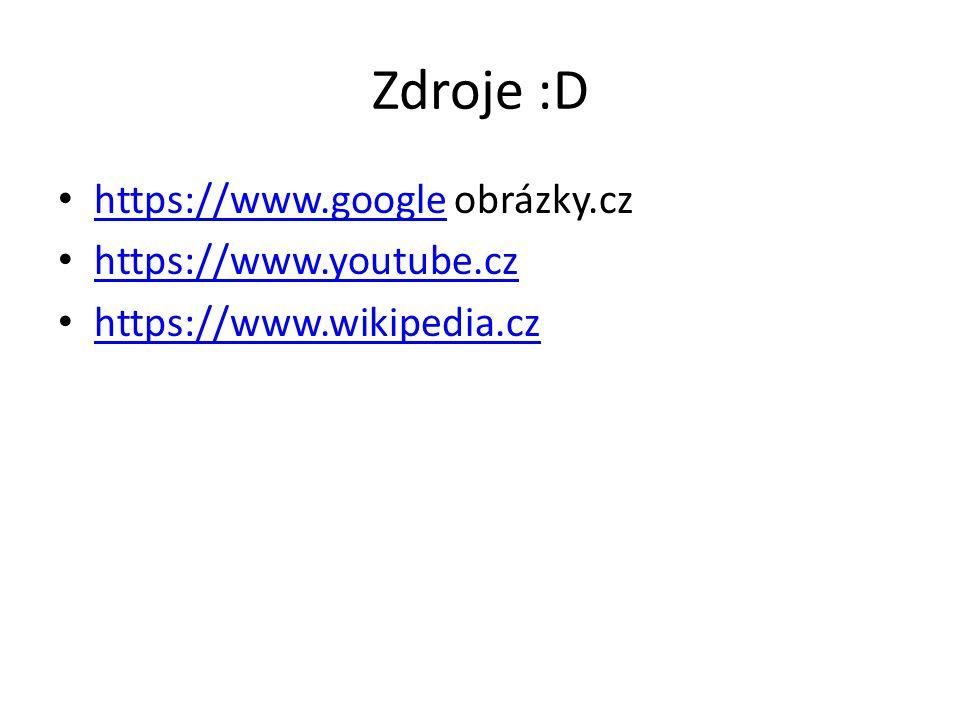 Zdroje :D https://www.google obrázky.cz https://www.youtube.cz