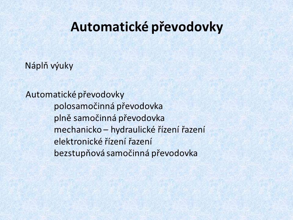 Automatické převodovky