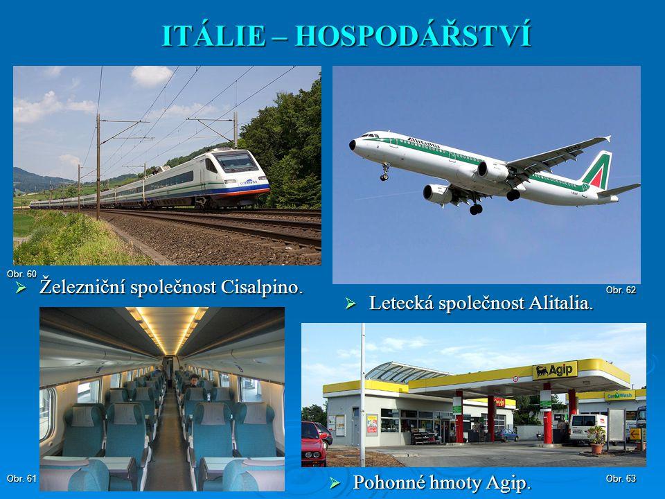 ITÁLIE – HOSPODÁŘSTVÍ Železniční společnost Cisalpino.