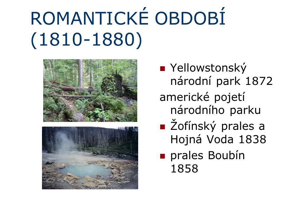 ROMANTICKÉ OBDOBÍ (1810-1880) Yellowstonský národní park 1872