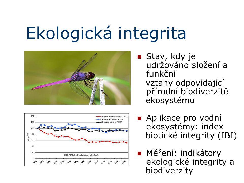 Ekologická integrita Stav, kdy je udržováno složení a funkční