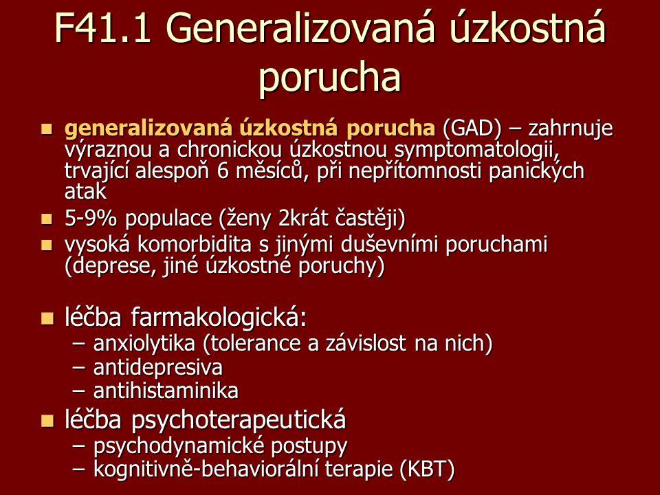 F41.1 Generalizovaná úzkostná porucha