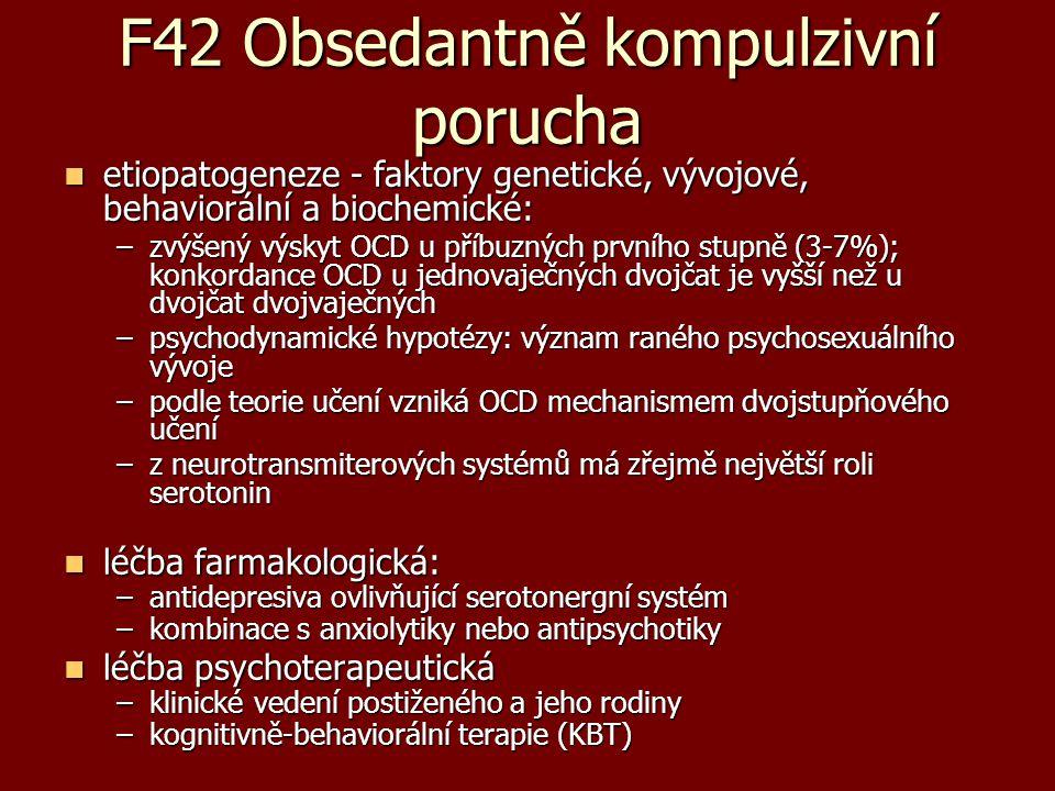 F42 Obsedantně kompulzivní porucha